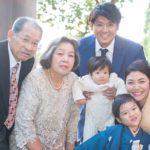 浅賀ファミリー+祖父母2017年12月撮影